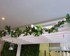 Haste de folhas verdes de ficus I