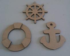Apliques tema nautico mdf