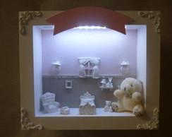 Enfeite de Maternidade Urso LED