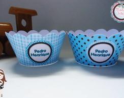 Wrapper para Cupcake Azul Po�