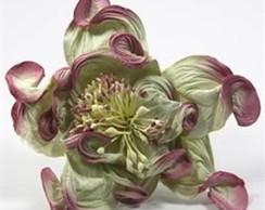 Rose Green Mauve-embalagem Com 6 Flores