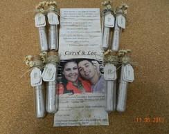 Convite Casamento No Tubo Modelo R�stico
