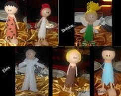 Fred, Vilma, Barnei, Beth, Sininho,Elvis
