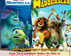 Kit Festa Monstros S.A. ou Madagascar