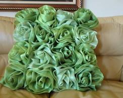 Almofada com Rosas de Organza