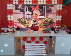 Decora��o Clean - Minnie Vermelha