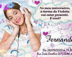 Convite - Violetta  - Disney