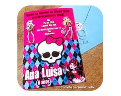 Convite - Monster High