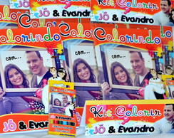Revista Kit Colorir Casamento