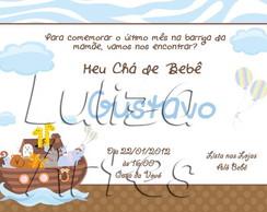 Arte Digital Convite Ch� de Beb�