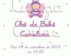 Arte Convite Ch� de Beb� Borboleta