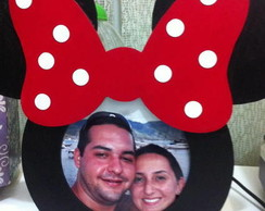 Porta Retrato Minnie de MDF