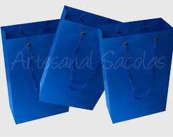 Sacola Azul Turquesa 15x24x7 cm
