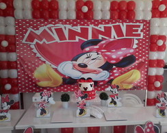 Decora��o Minnie vermelha clean aluguel
