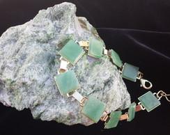 pulseira quartzo verde(pronta entrega)