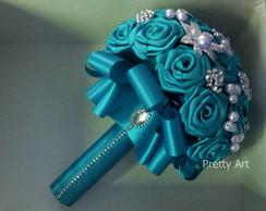 Buqu� de broches azul turquesa PROMO��O