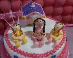 topo de bolo casinha de bonecas