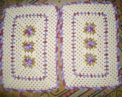 conjunto de tapete de croch�