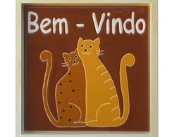 cer�mica decorativa e art�stic com gatos
