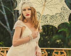 Vestido noiva Vintage modelo Allience