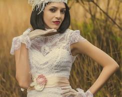 Vestido de noiva Vintage modelo Mari�