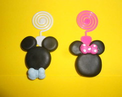�m� porta recado Mickey Minnie