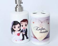 Porta escova e saboneteira personalizada