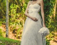 Vestido noiva em Renascen�a Modelo Luna