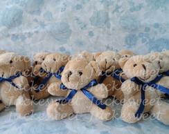 Urso Bege Gravata Azul Marinho