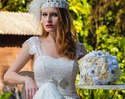 Buqu� Vintage com broches para noivas