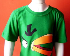 Camiseta Infantil Angry Birds - Green