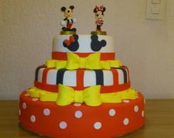 Bolo Cenogr�fico Mickey e Minnie - SP