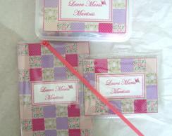 Kit Viagem Patchwork Lil�s e rosa