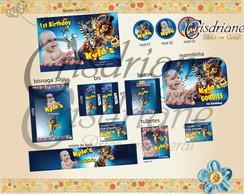 Kit digital para festa Madagascar Circo