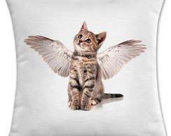 capa de almofada gato anjo