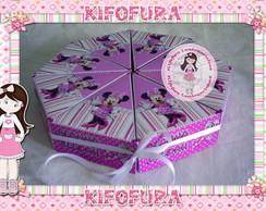 Caixa Fatia De Bolo Minnie Rosa