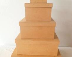 Kit de 5 Caixas em mdf cr�