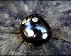 Anel em semente de tucum� e metal