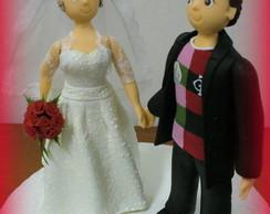 Topo de bolo - Casamento da Janaina