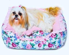 Cama Babado Floral - My Pet Designer
