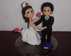 Topo de Bolo noiva Enfermeira