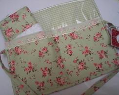Kit higiene floral verde..