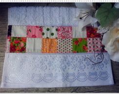 Toalha Lavabo Inspired Patchwork