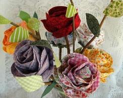 Flores R�sticas em Tecido