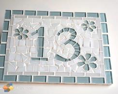 """Placa N�mero De Casa Mosaico """"13"""""""
