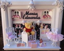 Quadro Maternidade Beb� Urso Pooh
