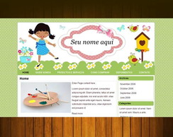 Template para Blog+ Boneca n/ exclusiva