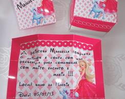 Convite Caixinha Barbie Moda e Magia
