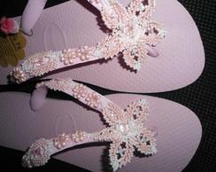chinelo havaiana na cor rosa cream