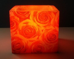 Lumin�ria 10x10 Rosas Vermelhas